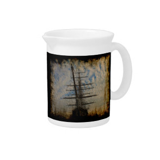 """Cutty Sark"" Famous English Sailing Ship Beverage Pitchers"