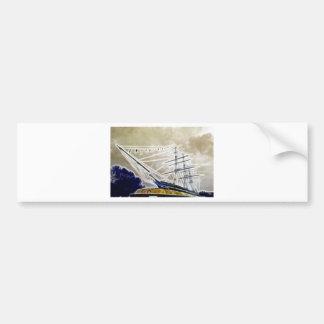Cutty Sark Greenwich Fractals Bumper Sticker