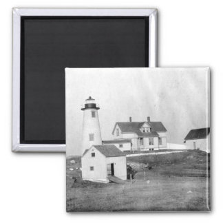 Cuttyhunk Lighthouse 2 Inch Square Magnet