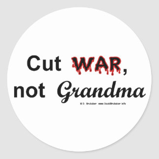 CutWarNotGrandma1 Sticker
