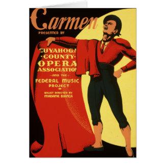 Cuyahoga County Opera presents Carmen Card