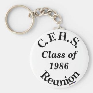 Cuyahoga Falls High School Reunion - white key Basic Round Button Keychain