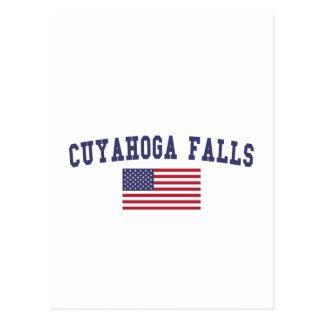 Cuyahoga Falls US Flag Postcard