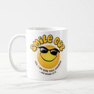 cuz de la sonrisa… sí, soy poca sol de la falta taza básica blanca