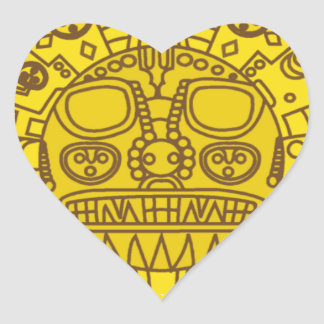 Cuzco Coat of Arms Heart Sticker