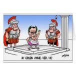 Cuzin' Vini Vidi Vici? Funny Cartoon Gifts & Tees Cards