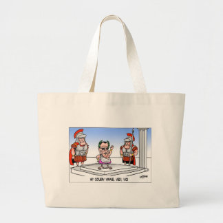 Cuzin' Vini Vidi Vici? Funny Cartoon Gifts & Tees Large Tote Bag