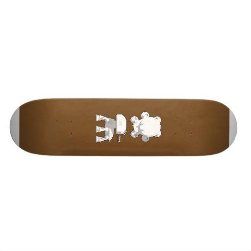 CV08_skate_brown Custom Skate Board