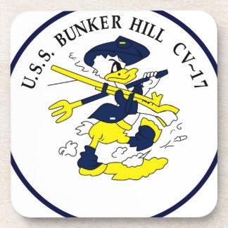 CV-17 USS BUNKER HILL Multi-Purpose Beverage Coaster