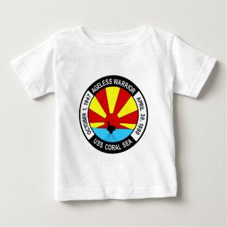 CV-43 USS CORAL SEA Multi-Purpose Aircraft Carrier Baby T-Shirt