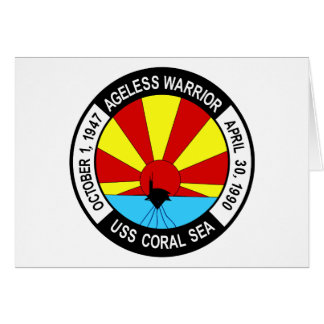 CV-43 USS CORAL SEA Multi-Purpose Aircraft Carrier Card