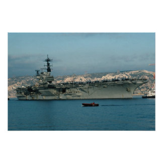 """CV-59 """"USS Forrestal"""" with full air wing, port vis Poster"""