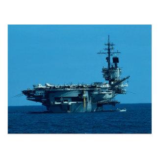 CV-66 USS América que desarma en 1996 severo Tarjeta Postal