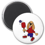 CV- Cocker Spaniel Playing Pickleball Cartoon Fridge Magnet