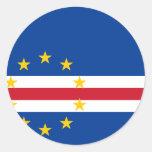 CV de la bandera de Cabo Verde Etiquetas Redondas