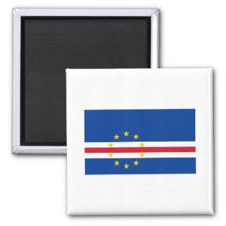 CV de la bandera de Cabo Verde Imán Cuadrado
