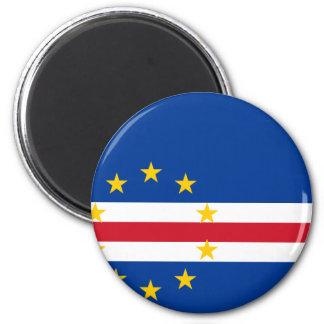 CV de la bandera de Cabo Verde Imán Redondo 5 Cm