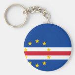 CV de la bandera de Cabo Verde Llavero Redondo Tipo Pin