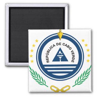 CV del escudo de armas de Cabo Verde Imán Cuadrado