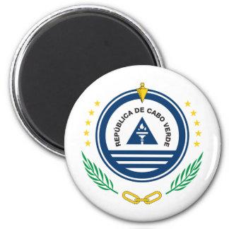 CV del escudo de armas de Cabo Verde Imán Redondo 5 Cm