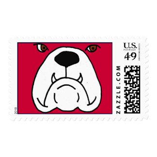 CV- Funny Bulldog Postage Stamps