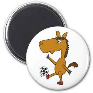 CV- Horse Playing Soccer or Football Magnet