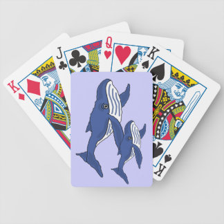 CV- Mother and Baby Blue Whale Playing Cards