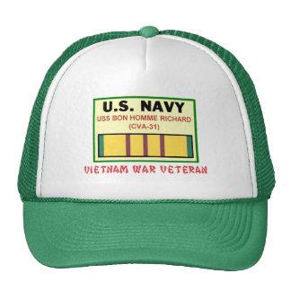 CVA-31 BON HOMME RICHARD TRUCKER HAT