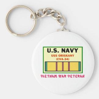 CVA-34 ORISKANY Vietnam War Vet Keychains
