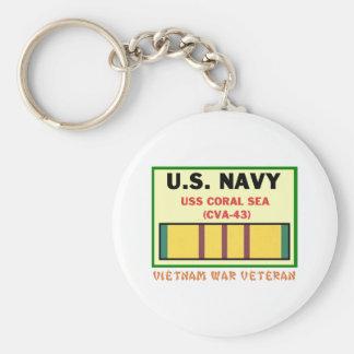CVA-43 CORAL SEA VIETNAM WAR VET KEYCHAIN
