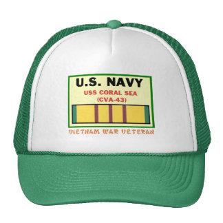 CVA-43 CORAL SEA VIETNAM WAR VET TRUCKER HAT