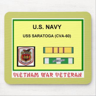 CVA-60 SARATOGA VIETNAM WAR VET MOUSE PAD