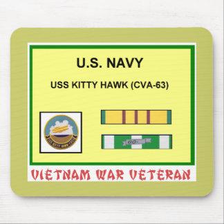 CVA-63 KITTY HAWK VIETNAM WAR VET MOUSE PAD