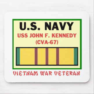 CVA-67 JOHN F, KENNEDY VIETNAM WAR VET MOUSE PAD