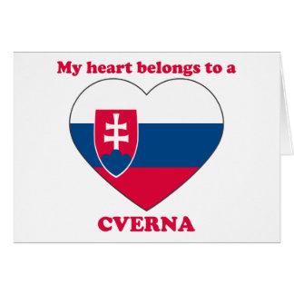 Cverna Greeting Card