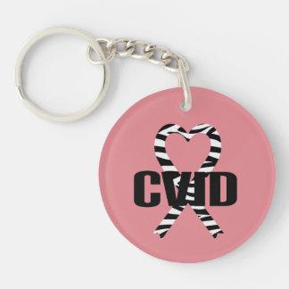 CVID Zebra Ribbon Keychain