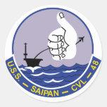 CVL-48 A USS SAIPAN Multi-Purpose Light Aircraft C Round Sticker
