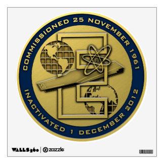 CVN 65 Inactivation Gold Wall Sticker