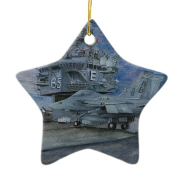 CVN-65 USS ENTERPRISE CERAMIC ORNAMENT