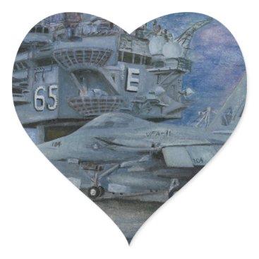 CVN-65 USS ENTERPRISE HEART STICKER