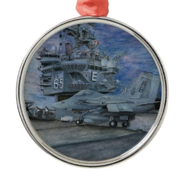 CVN-65 USS ENTERPRISE METAL ORNAMENT