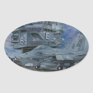 CVN-65 USS ENTERPRISE OVAL STICKER