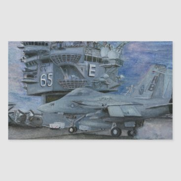 CVN-65 USS ENTERPRISE RECTANGULAR STICKER