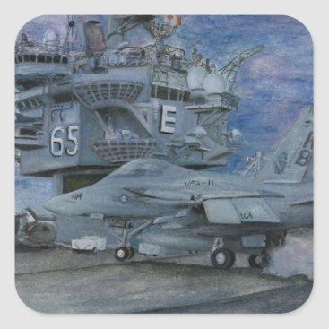 CVN-65 USS ENTERPRISE SQUARE STICKER