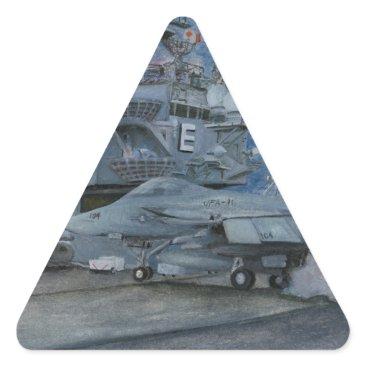 CVN-65 USS ENTERPRISE TRIANGLE STICKER