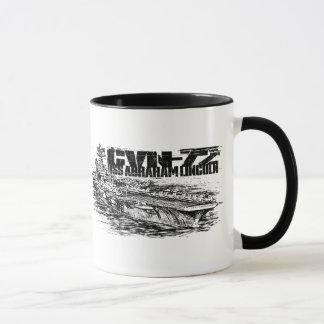 CVN-72 Abraham Lincoln 11 oz Ringer Mug