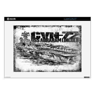 "CVN-72 Abraham Lincoln 15"" Laptop For Mac & PC Sk Laptop Skins"