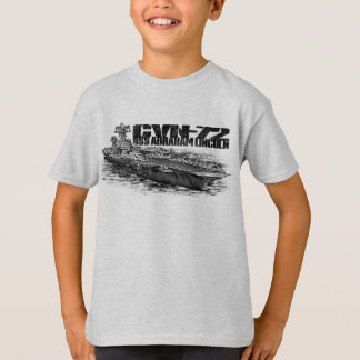 CVN-72 Abraham Lincoln Kids' Basic Hanes Tagless T-Shirt