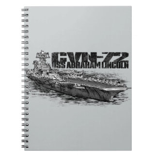 CVN-72 Abraham Lincoln Photo Notebook (80 Pages B