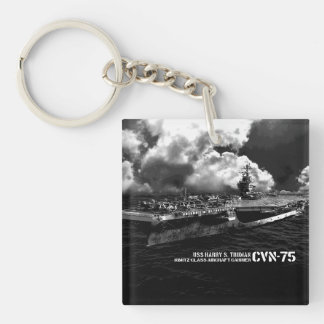 CVN-75 Harry S. Truman Square (double-sided) Keyc Double-Sided Square Acrylic Keychain